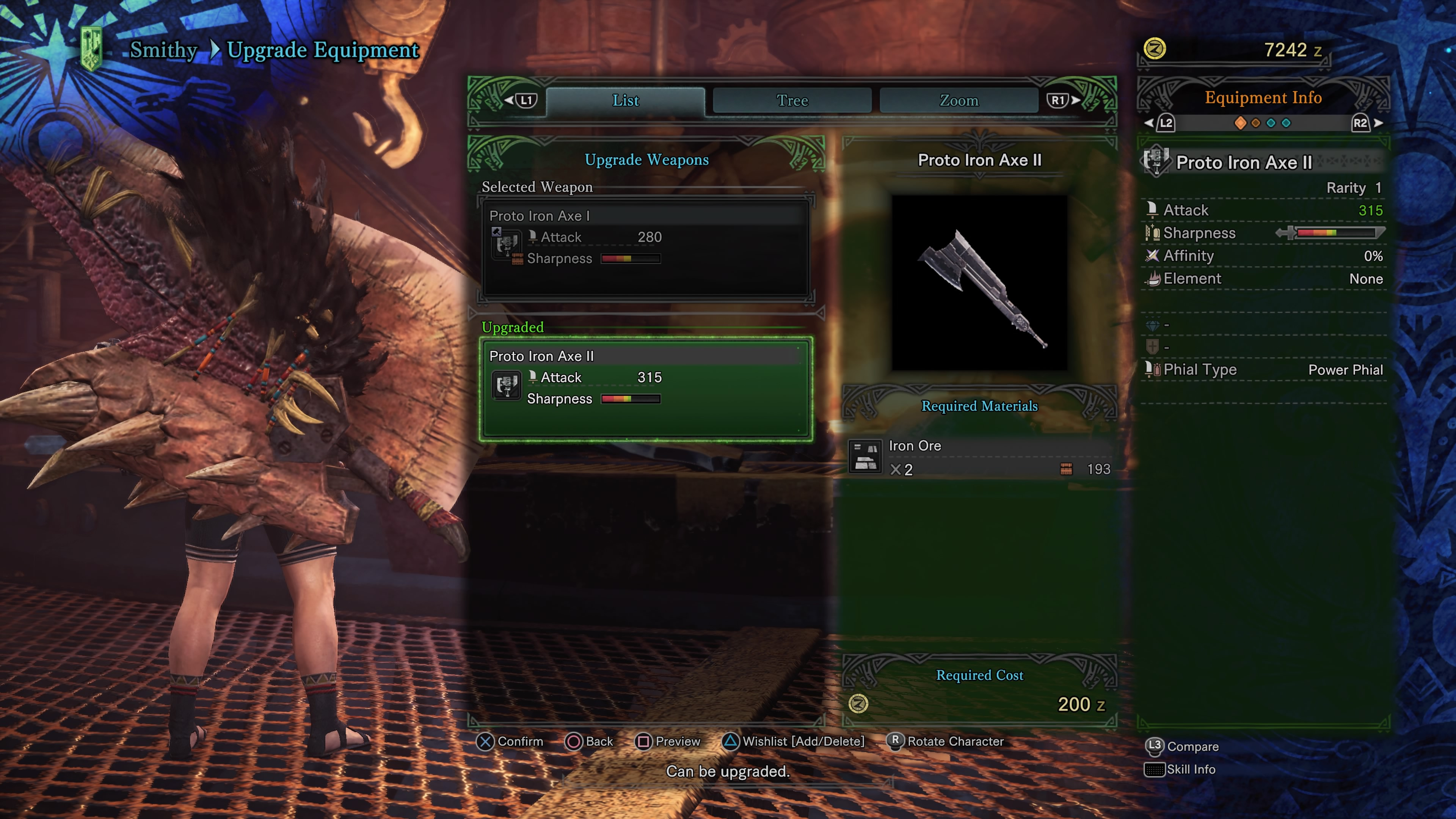 Monster hunter world weapons all switch axes upgrade for Decoration list monster hunter world