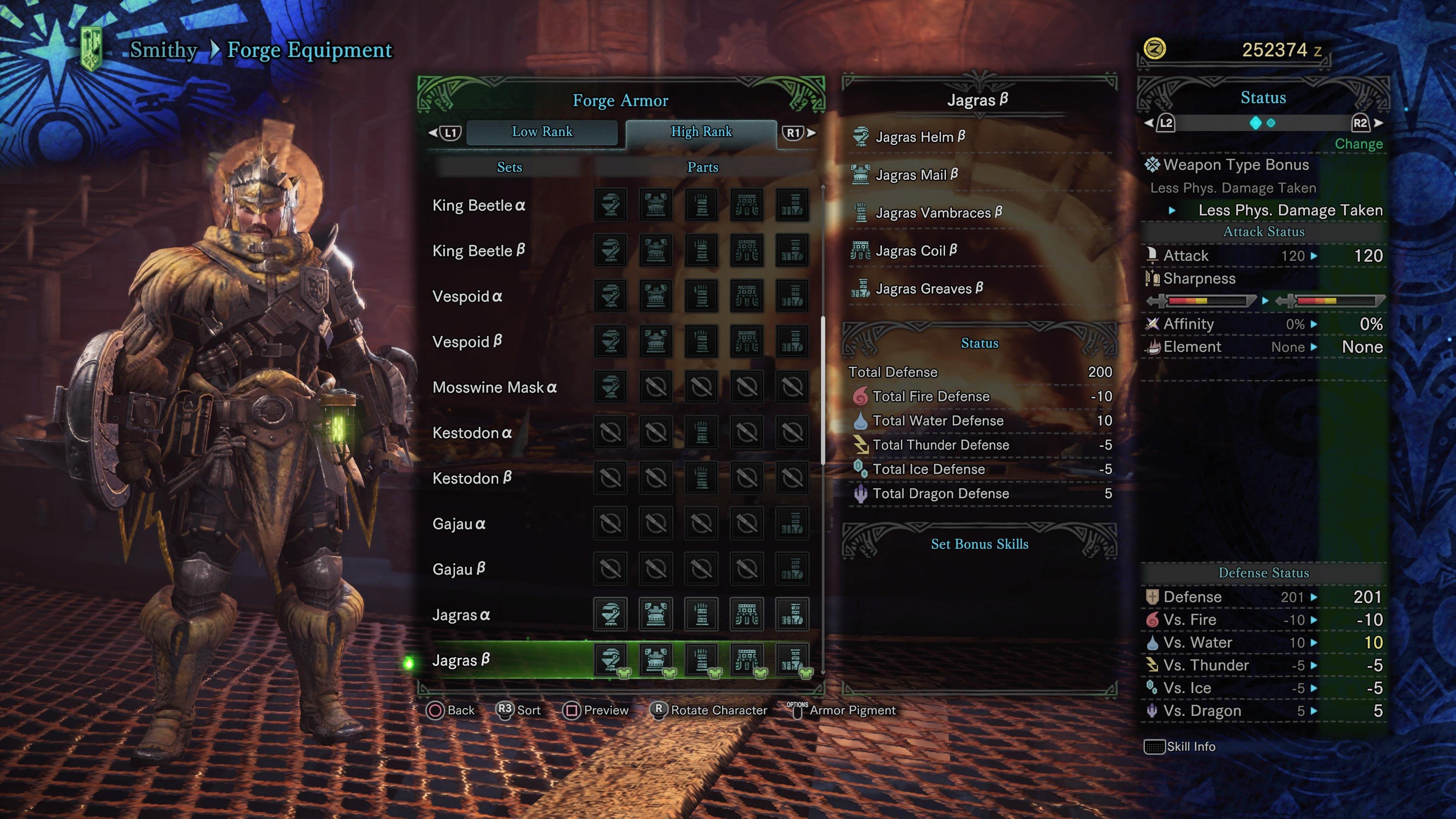 Monster Hunter: World Armor Sets - All High Rank Armor Sets