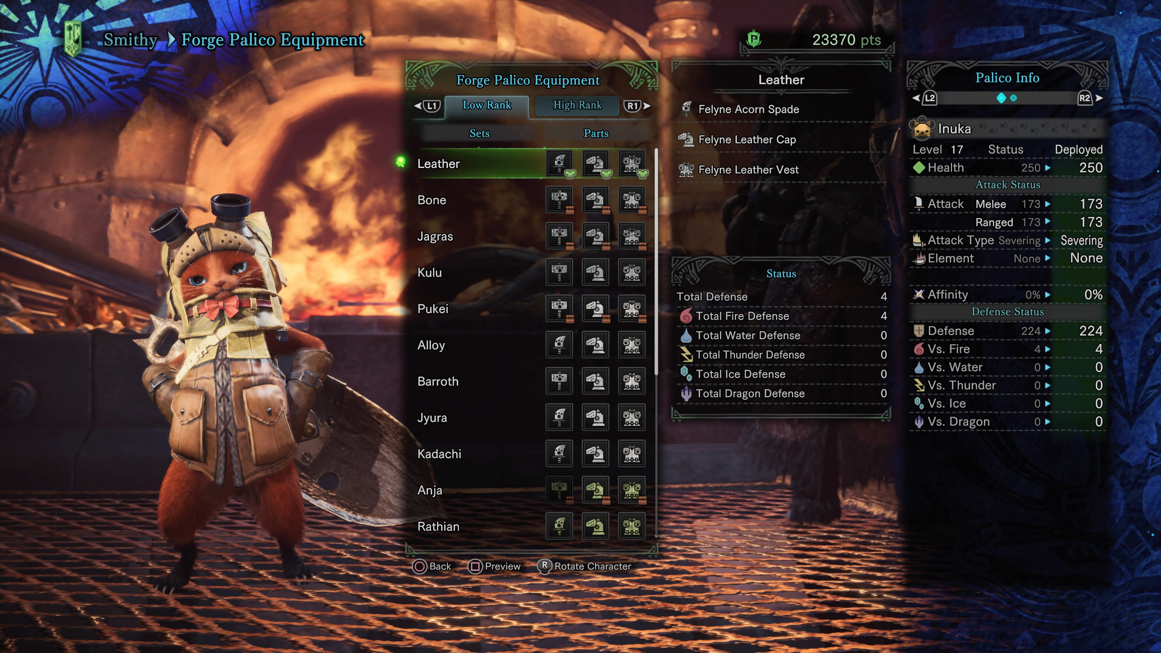 Monster hunter world palico equipment all high and low for Decoration list monster hunter world
