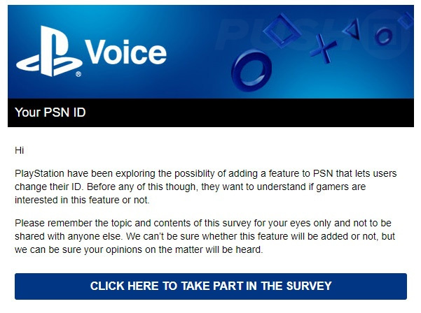 Sony Surveying Users on Potential PSN Name Changes - Push Square