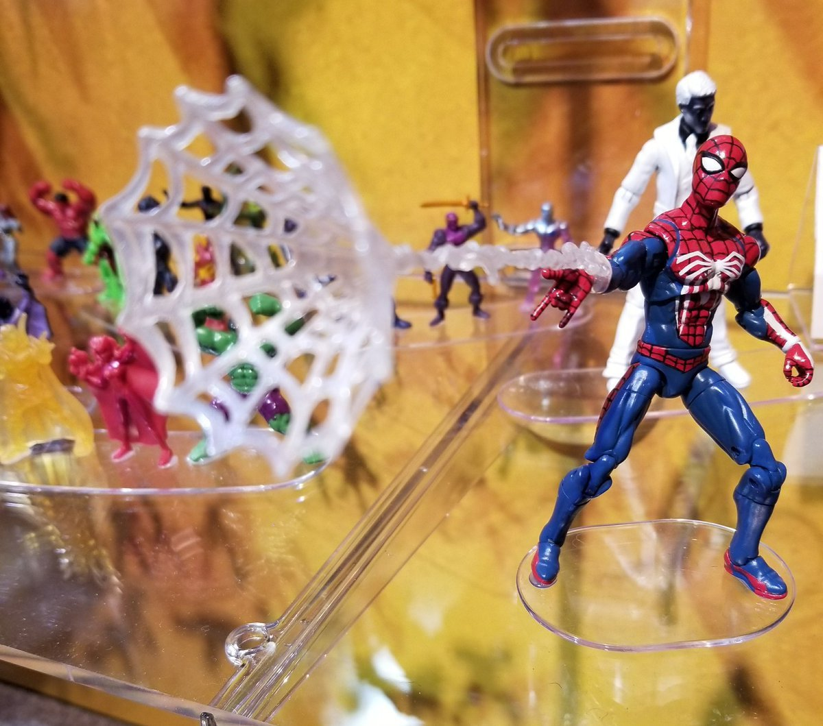spiderman ps4 toys infiltrate toy fair 2018 push square