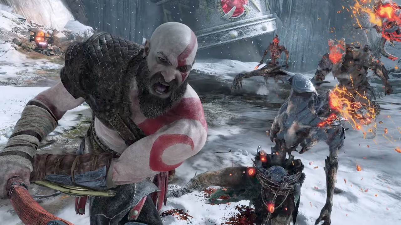God of war 39 s first unedited gameplay footage dazzles on - God of war wallpaper for ps4 ...