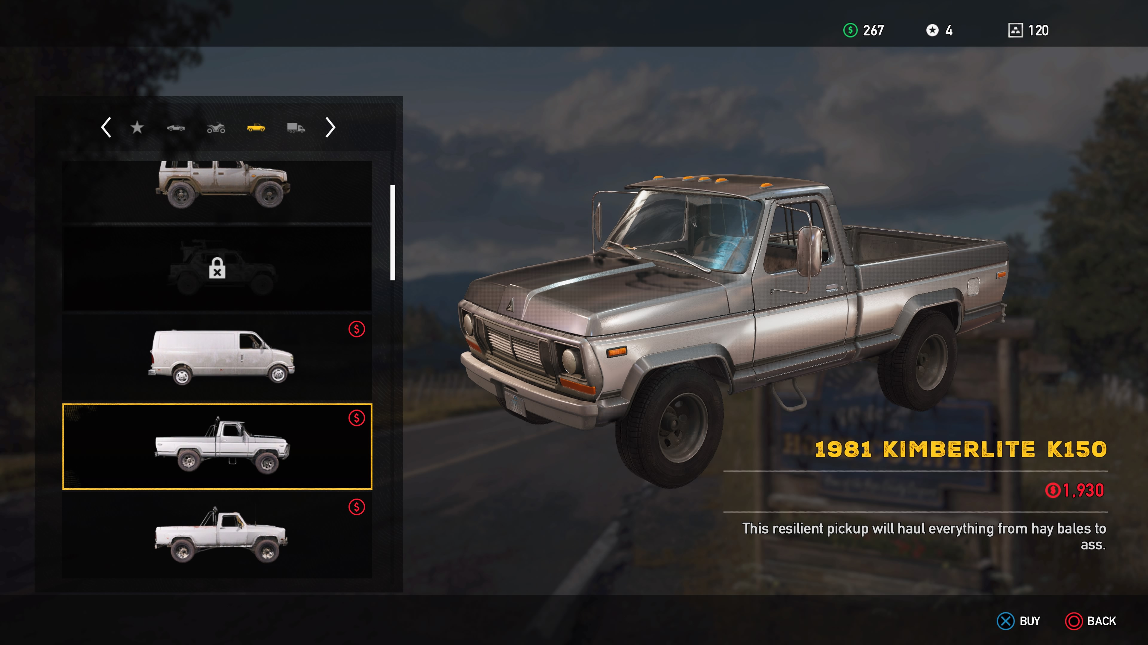 Most Reliable Used Trucks >> Far Cry 5 Land Vehicles List: All Unlockable Automobiles, Recreational, Trucks & Vans, and Heavy ...