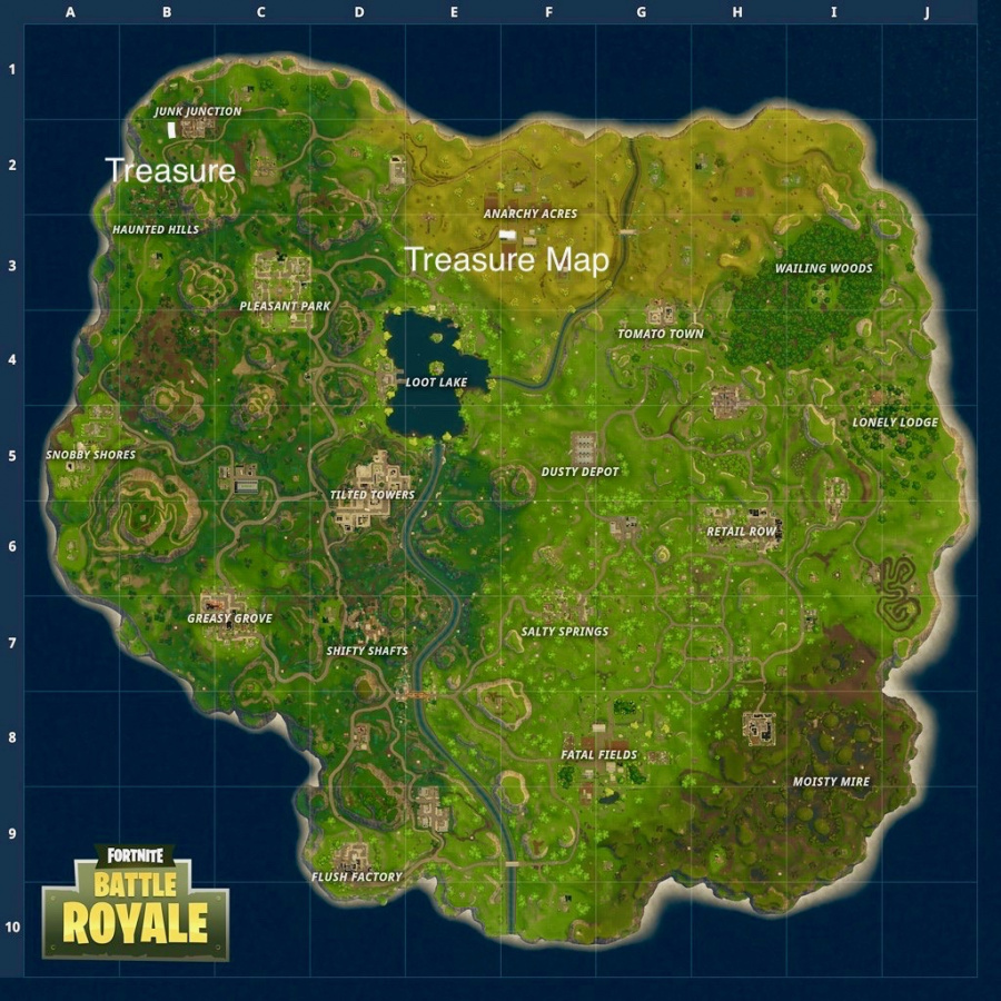 Fortnite Anarchy Acres Treasure Map Location 2