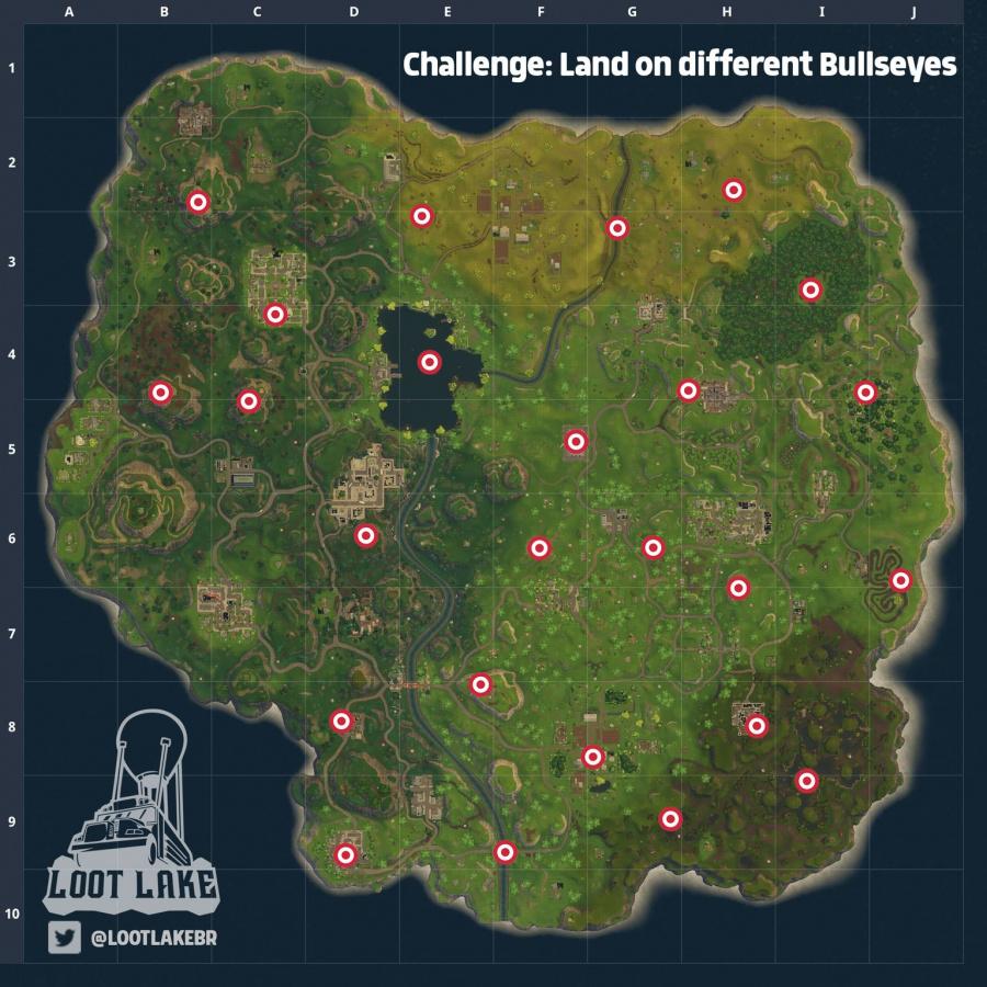 Fortnite Bullseye Locations 2