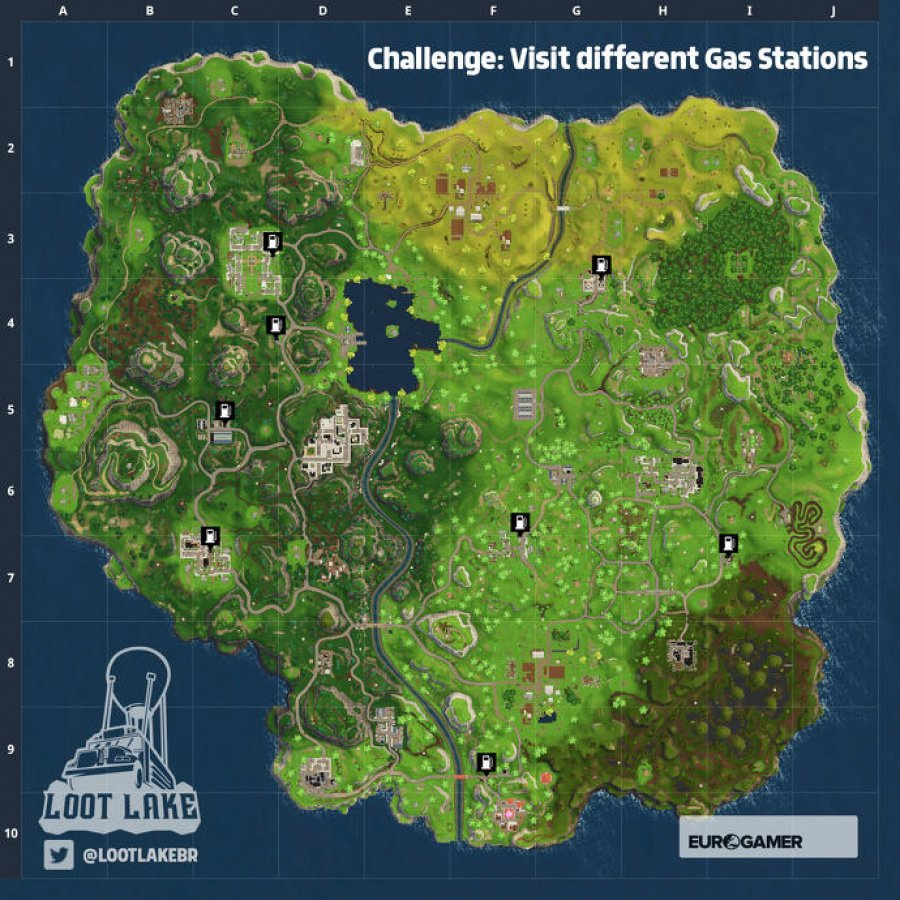 Fortnite Gas Station Locations - Guide - Push Square