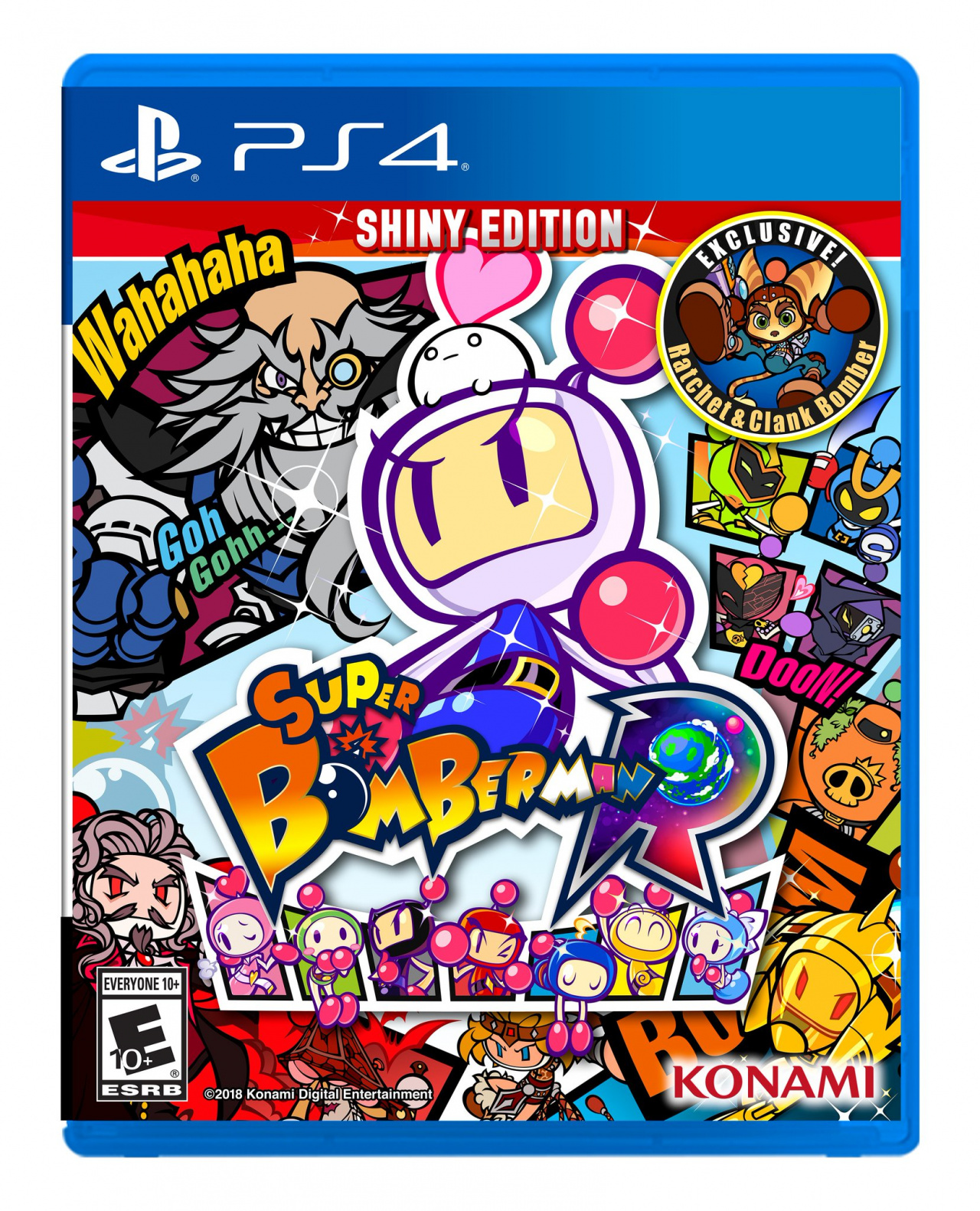 Super Bomberman R American Box Art PS4 Play Station 4