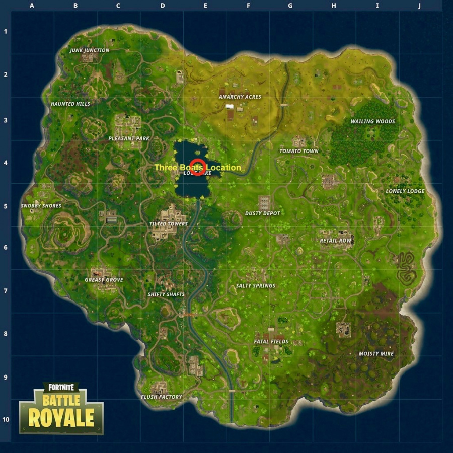 Fortnite Search Between Three Boats Location 2
