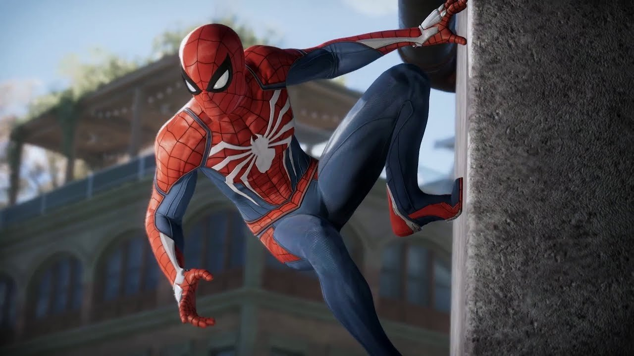 spider-man's suit has both form and function in ps4 exclusive - push