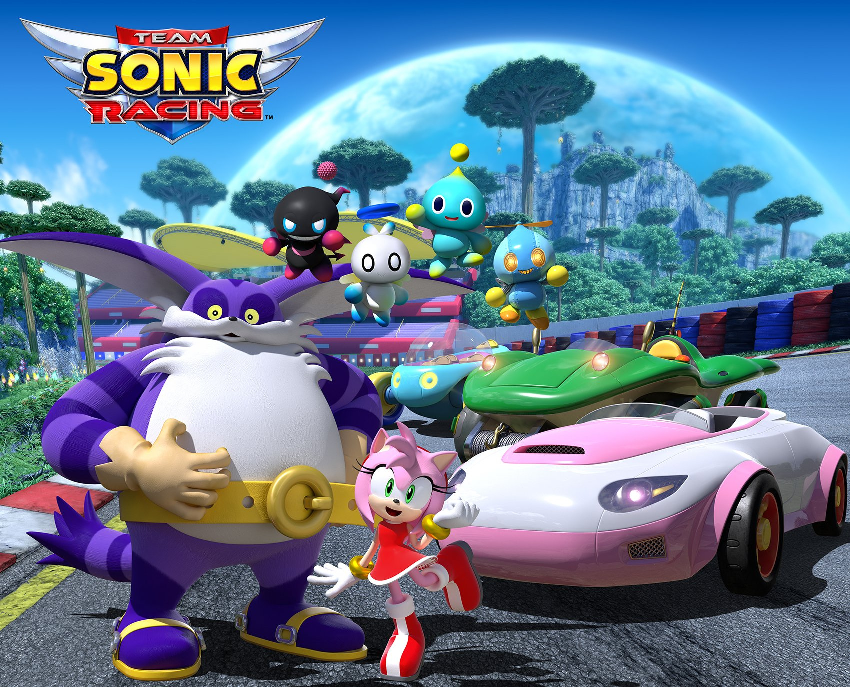 Big the Cat, Amy Rose, and Chao Join Team Sonic Racing