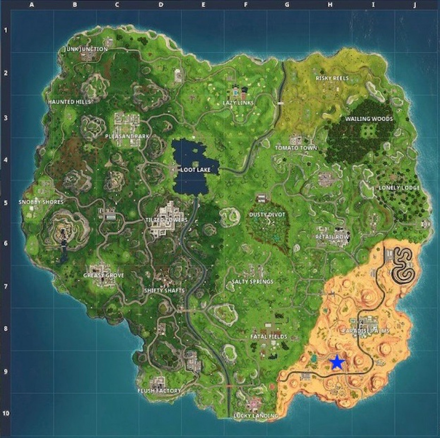 Fortnite Guide Where to Search Between an Oasis, Rock Archway, and Dinosaurs 2