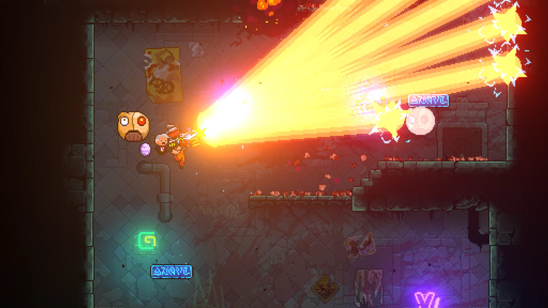 Neon Abyss Review Ps4 Push Square Hammers And Steel