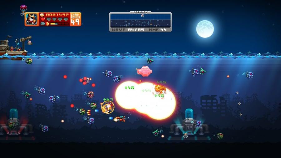 Aqua Kitty: Milk Mine Defender Review - Screenshot 2 of 4