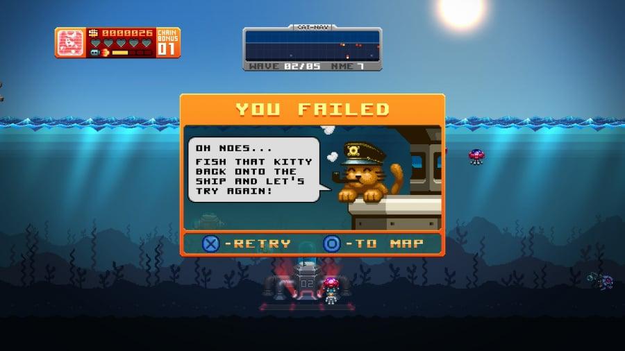 Aqua Kitty: Milk Mine Defender Review - Screenshot 1 of 4