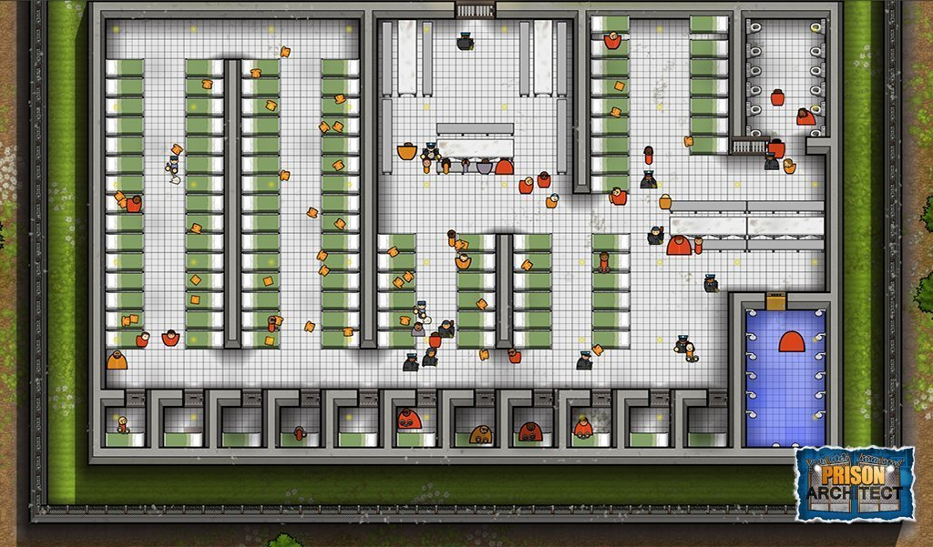 prison architect cell block layout