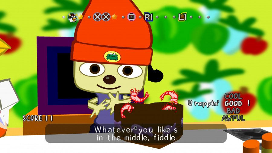 PaRappa the Rapper Remastered Review - Screenshot 1 of 4