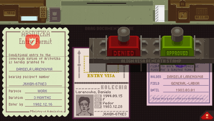 Papers, Please Review - Screenshot 1 of 2