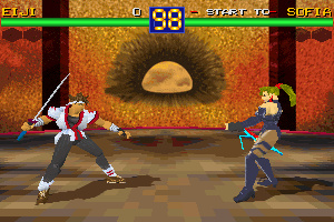 Battle Arena Toshinden Screenshot